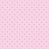 Seamless vector pattern with black polka dots on a sweet pastel pink background. — Vetorial Stock