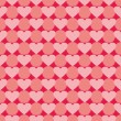 Pink and red vector valentines background with hearts. Full of love seamless pattern for kids desktop wallpaper or website design. — Stock Vector #40681743