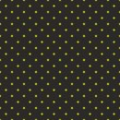 Seamless vector pattern with sunny yellow polka dots on black background. — Stock Vector #40857977
