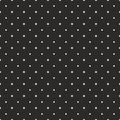 Seamless vector pattern with dark grey polka dots on a black background — Stock Vector
