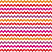 Aztec Chevron seamless vector colorful red, orange, pink and violet pattern, texture or background with zig zag stripes. — Stock Vector