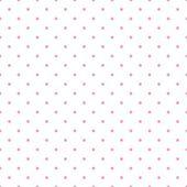 Modèle vectorielle continue à pois pastel bébé rose sur fond blanc. — Vecteur