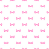 Seamless vector pattern with cute pastel baby pink bows on white background. For web design, desktop wallpaper, cards, invitations, wedding or baby shower albums, backgrounds, arts and scrapbooks. — Vector de stock