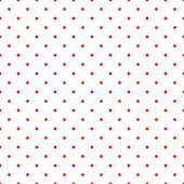 Retro vector pattern with red polka dots on whitebackground - vintage seamless texture for kids  background, website design, blog, desktop wallpaper — Stok Vektör