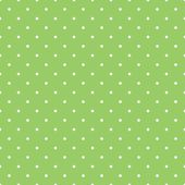 Seamless spring vector pattern with white polka dots on fresh grass green background. — Stock Vector