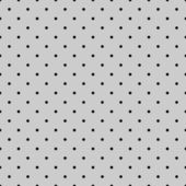 Seamless vector pattern or background with black polka dots on grey background. — Stockvector