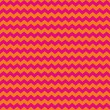 Chevron seamless vector pattern or background with zig zag red or purple pink and orange stripes on white background. — Stock Vector