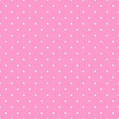 Pastel pembe bir arka plan üzerinde beyaz puantiyeli ile sorunsuz vektör desen. masaüstü duvar kağıdı veya çocuk web sitesi tasarımı için — Stok Vektör