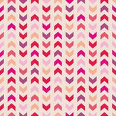 Aztec Chevron seamless vector colorful pattern, texture or background with zigzag stripes. Pink, violet, orange and red background, desktop wallpaper or website design element — Stock Vector