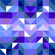 Seamless vector blue pattern, texture or background. Violet, navy blue and dark colorful geometric mosaic shapes. Hipster flat surface design triangle wallpaper with aztec chevron zig zag print — Stock Vector #43824857