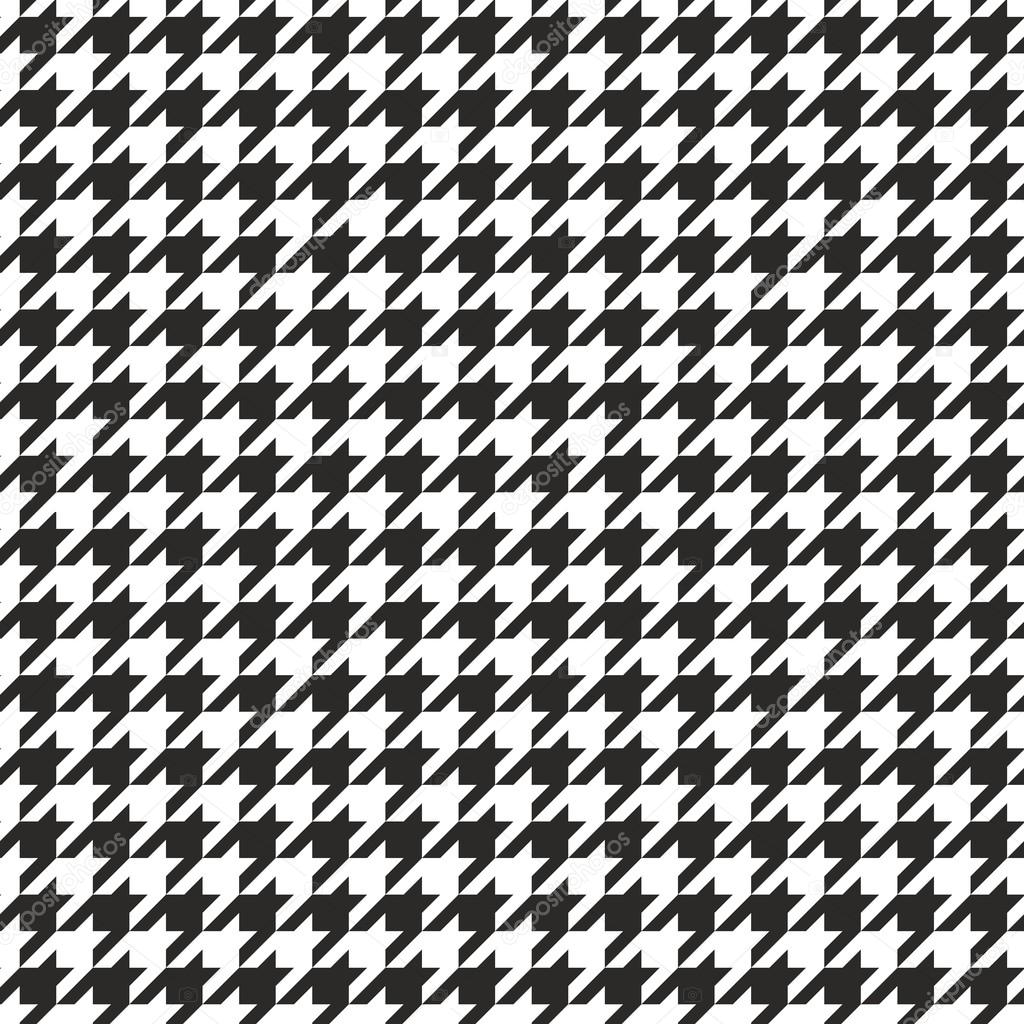 houndstooth vector seamless black and white pattern. Black Bedroom Furniture Sets. Home Design Ideas