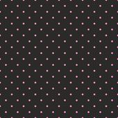 Seamless vector pattern with pastel pink polka dots on black background. — Stock Vector