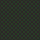 Black background with neon green polka dots. Seamless pattern for halloween desktop tile wallpaper and spring website design — Vettoriale Stock