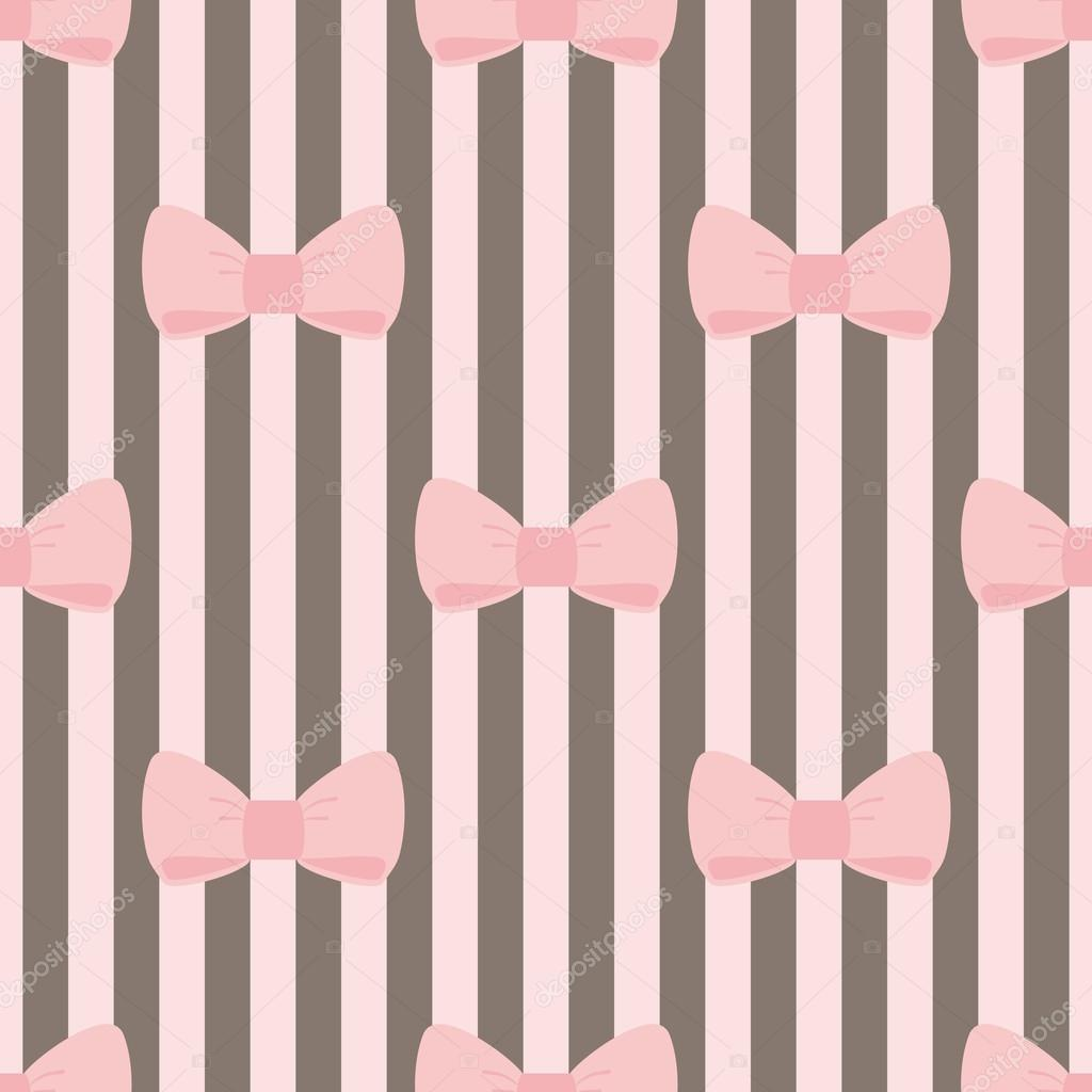 Pastel pink striped background seamless vector pastel stripes - Seamless Vector Pattern With Pastel Pink Bows On A