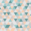 Colorful tile vector background illustration. Grey, orange, pink and mint green triangle geometric mosaic card document template or seamless pattern. Hipster flat surface chevron zigzag print design — Stock Vector #44487433