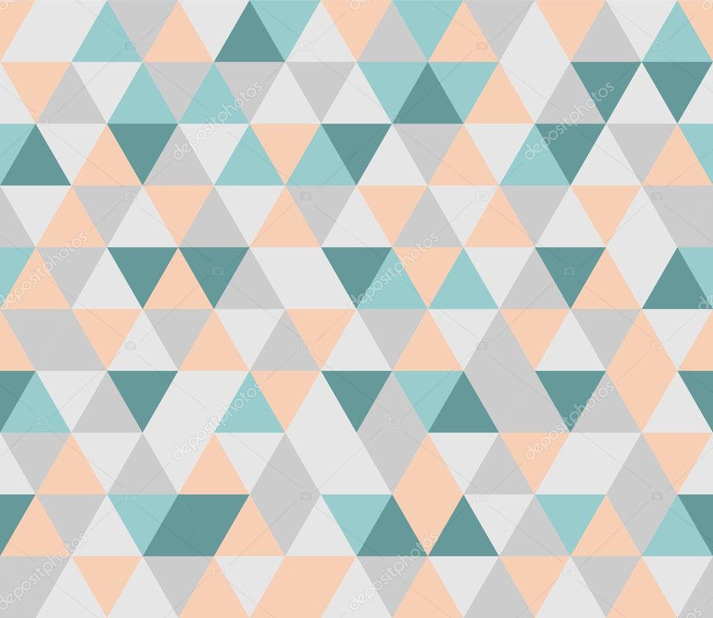 Orange geometric curtains