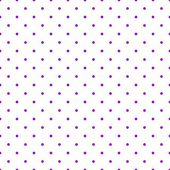 Seamless vector pattern with tile pink polka dots on white background. — Stock Vector