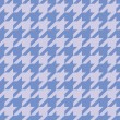 Houndstooth vector seamless blue and violet pattern. Tweed fashion tile background with retro pastel tartan woven for desktop wallpaper or website design — Stok Vektör
