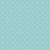 Seamless vector pattern with white polka dots on a retro vintage mint green or sea blue background. — Διανυσματικό Αρχείο