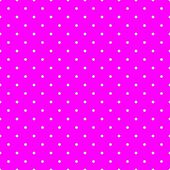 Seamless vector pattern with white polka dots on a dark neon pink background. — Stock Vector