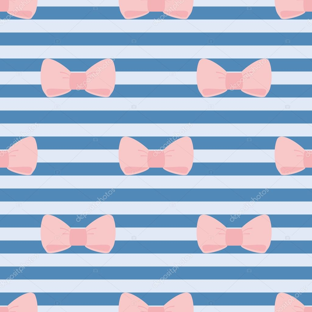Pastel pink striped background seamless vector pastel stripes - Seamless Vector Pattern With Pastel Pink Bows On Sailor