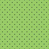 Seamless spring vector pattern or tile texture with black polka dots on fresh grass green background. — Stock Vector