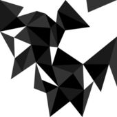 Dark triangle vector background or pattern. Flat white, black and grey surface wrapping geometric mosaic for wallpaper or halloween website design — ストックベクタ