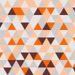 Colorful tile background vector illustration. Grey, orange, pink and chocolate brown triangle geometric mosaic document template or seamless pattern. — Stock Vector