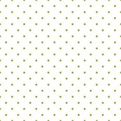 Seamless vector pattern with green polka dots on white background. — Stock Vector