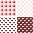 Seamless vector background set with hearts. Full of love pattern for valentines tile desktop wallpaper — Stock Vector #46303171