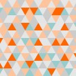 Grey, orange, pink and mint green triangle geometric mosaic seamless pattern or tile vector background wallpaper — Stock Vector #46738783