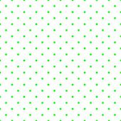 Seamless vector pattern or tile background with mint green polka dots on white background. — Stock Vector
