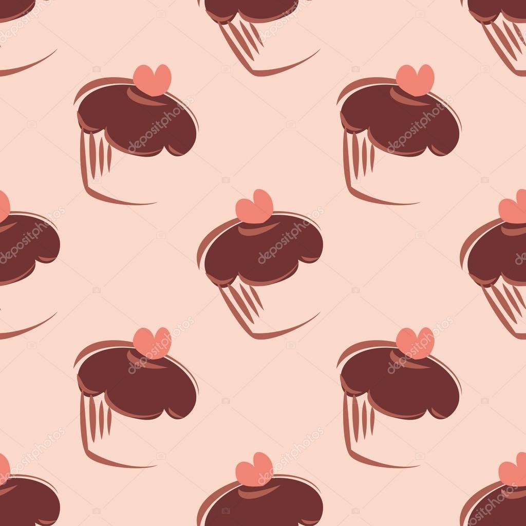 Magdalenas de chocolate con fondo negro