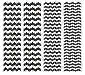 Baldosas vector patrón chevron establece con negro zig zag sobre fondo blanco — Vector de stock