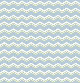 Tile vector pattern with white and yellow zig zag print on pastel blue background — Stock Vector