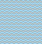 Tile vector pattern with white and brown zig zag print on pastel blue background — Stock Vector