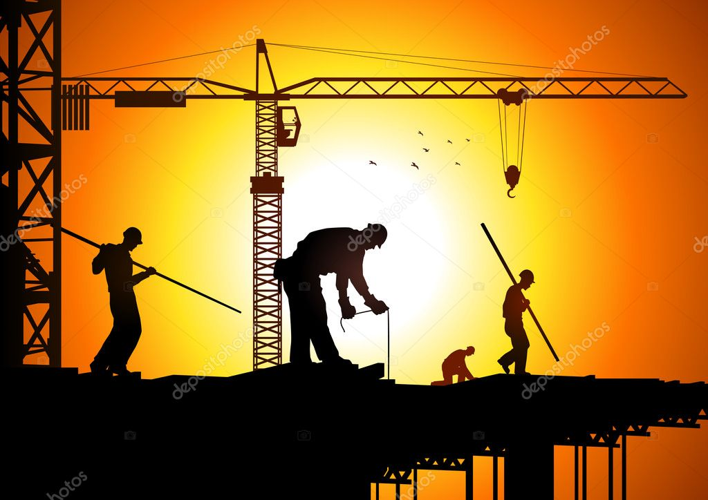 Construction Worker Hammer Silhouette Silhouette Illustration of Construction Workers Vector by Rudall30