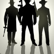 Gangsters — Stock Vector #13442344