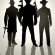 Gangsters — Stock Vector