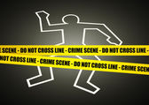 Crime Scene — Stock Vector