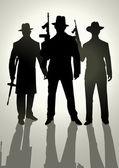 гангстеры — Cтоковый вектор