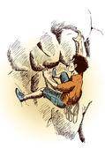 Rock Climbing — Stock Vector