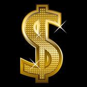 黄金美元 — 图库矢量图片