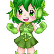 Chibi Super-heroine — Stock Photo