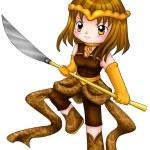 Chibi Warrior — Stock Photo #22089431