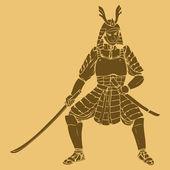 Armored Samurai — Stock Vector