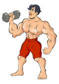 Bodybuilder — Stock Vector