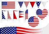 USA Insignia — Stock Vector