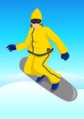 участник снега — Cтоковый вектор