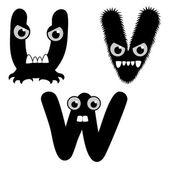 Font Type Monster — Stock Vector